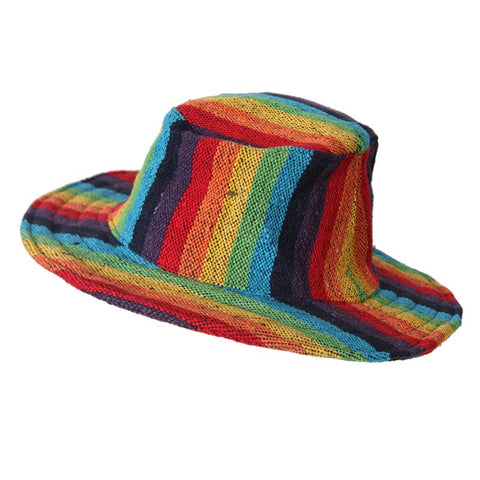Men's Rainbow Wire Rim Hat