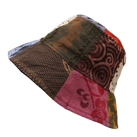Men's Patterned Patchwork Bucket Hat