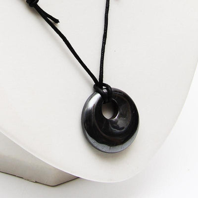 Hematite Round Necklace