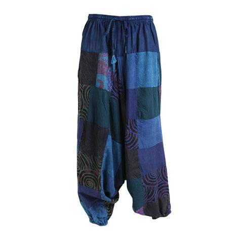 Low Crotch Overdyed Harem Pants