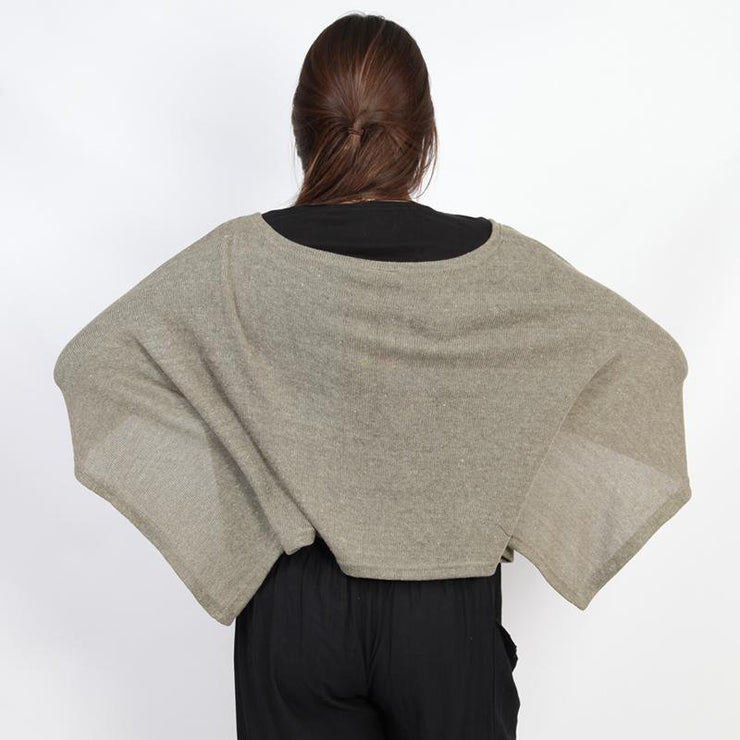 Cropped Poncho Top