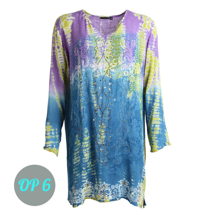 Tie Dye Embroidered Tunic