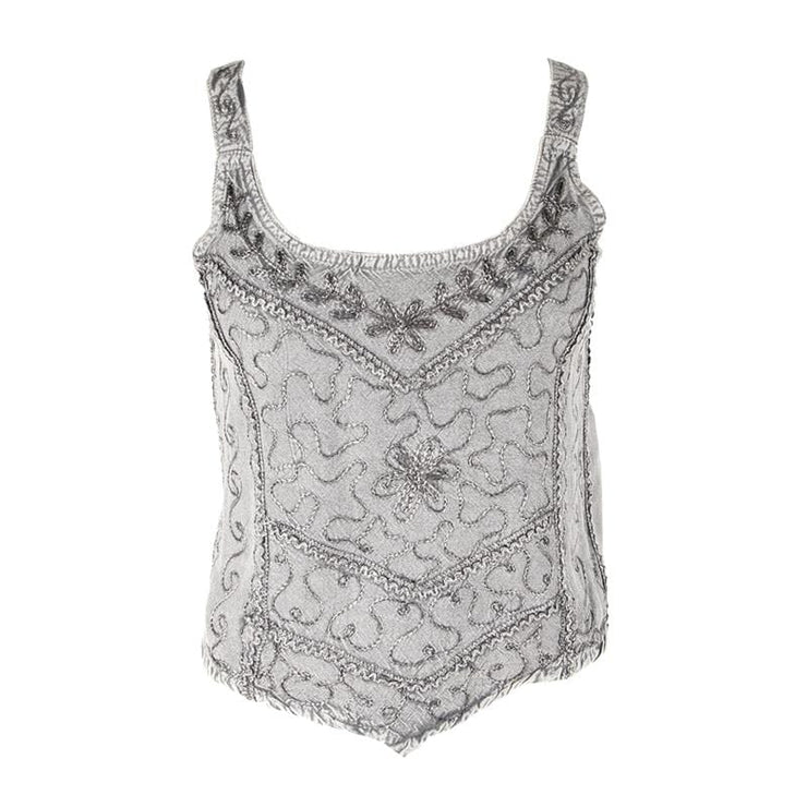 Embroidered Cami Crop Top