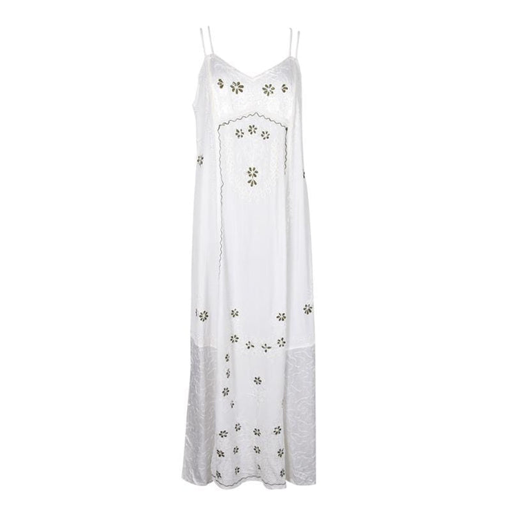 Embroidered Cami Maxi Dress