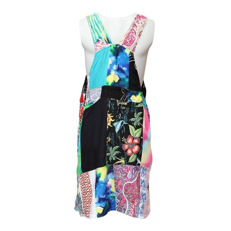 Patchwork Pinafore Dress