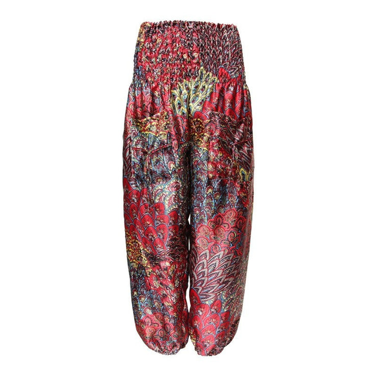Patterned Satin Harem Trousers