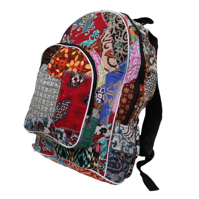 Men's Batik Patchwork Backpack