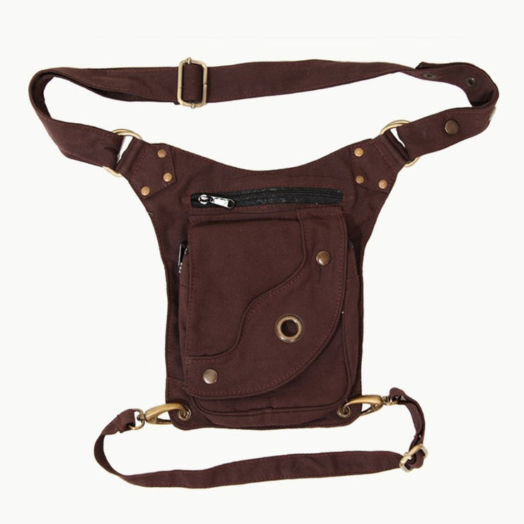 Multi Pocket Drop Leg Hip Bag