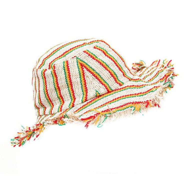 Men's Striped Hemp Sun Hat