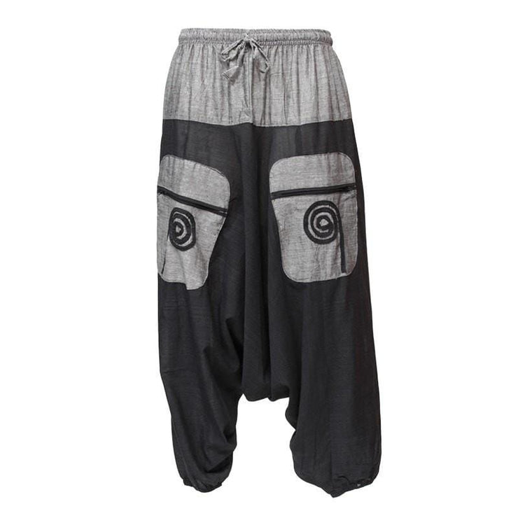 Swirl Pocket Drop Crotch Joggers
