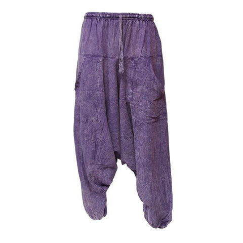 Acid Wash Jogger Harem Pants