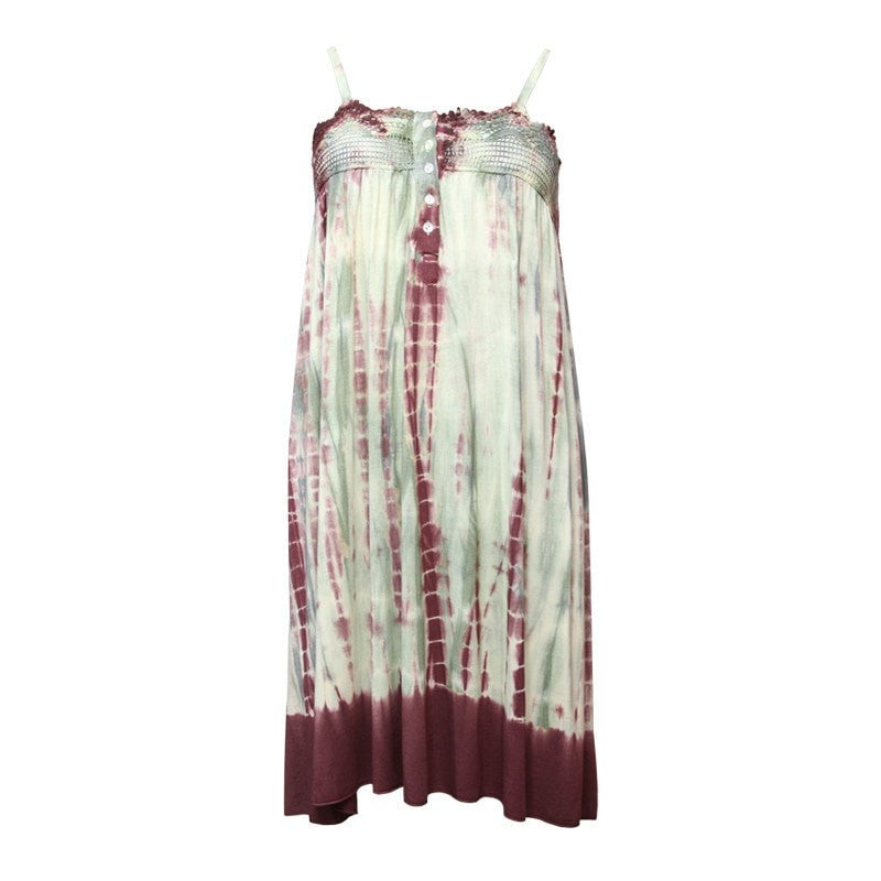 Lace Detail Tie Dye Swing Dress