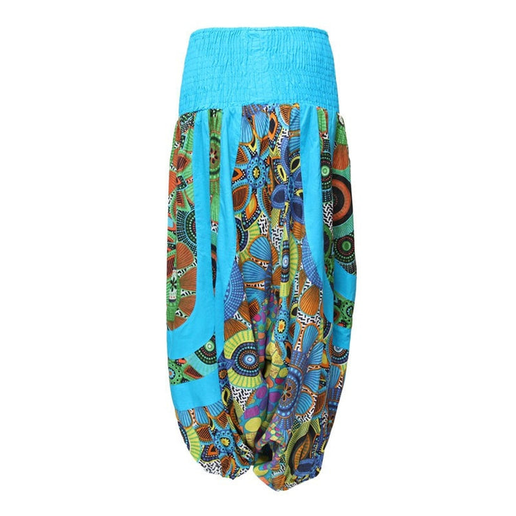 Patterned Turquoise Genie Pants