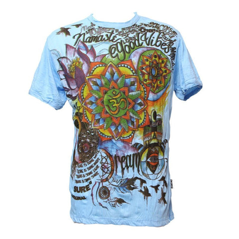 Good Vibes Om Print T-Shirt