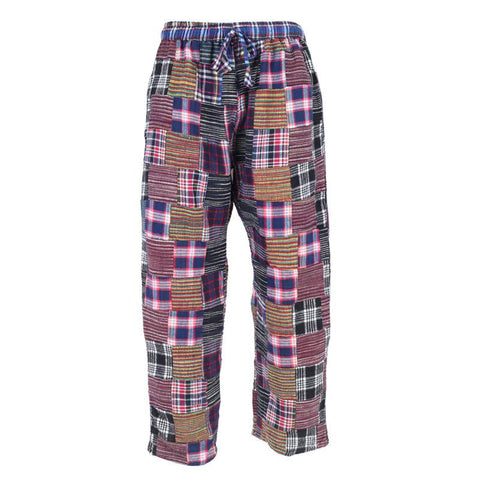 Brushed Cotton Patchwork Trousers