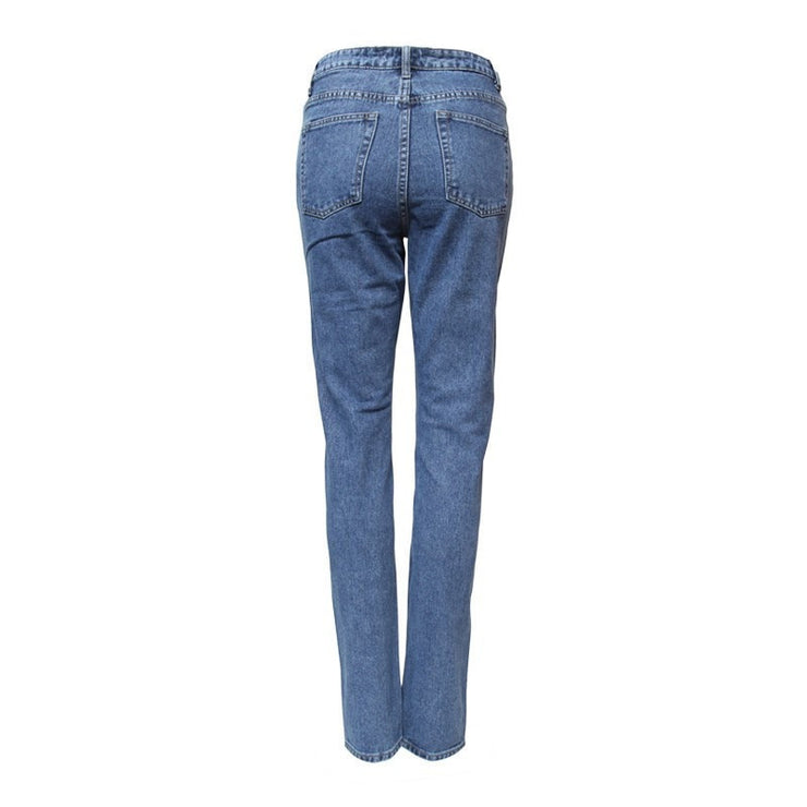 Embroidered Straight Leg Jeans