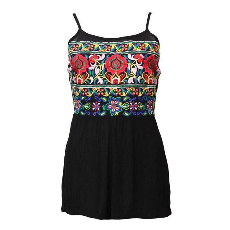 Embroidered Festival Playsuit