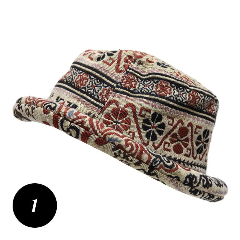 Tapestry Style Roll Brim Hat