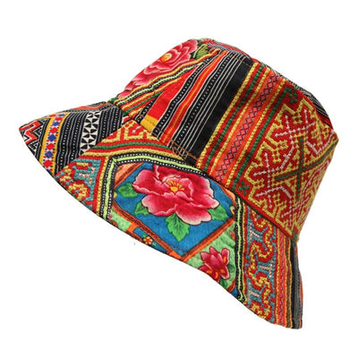 Men's Floral Thai Bucket Hat
