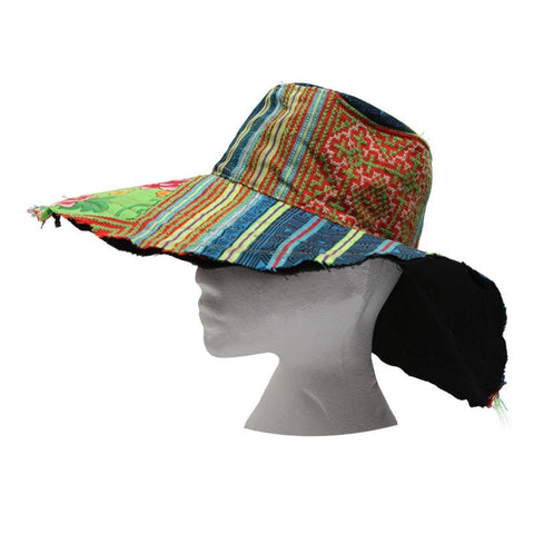 Raw Edge Oversized Floppy Hat