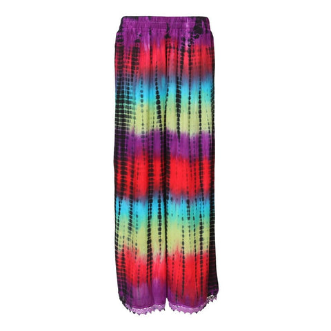 Tie Dye Jersey Wide Leg Trousers