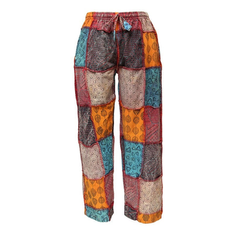 Patterned Patchwork Trousers