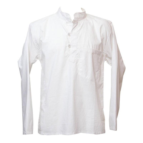 Premium Cotton Collarless Grandad Shirt