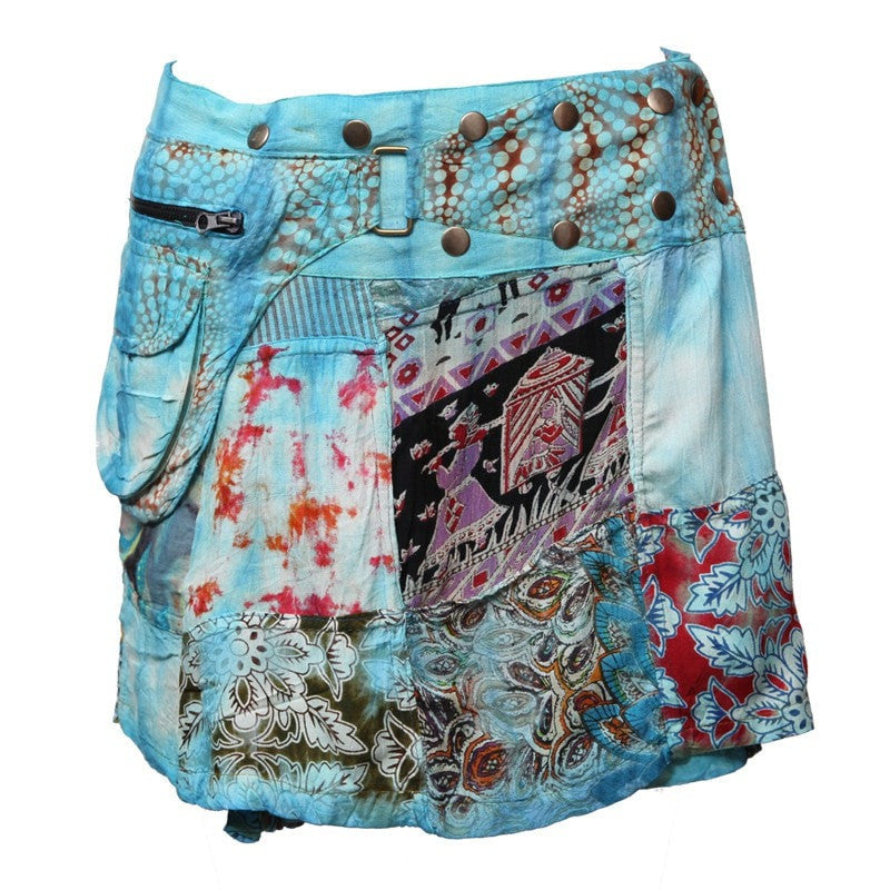 Gringo Tie Dye Mini Popper Skirt