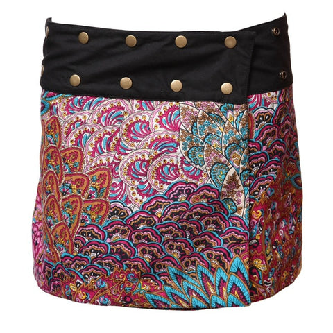 Reversible Mini Popper Skirt