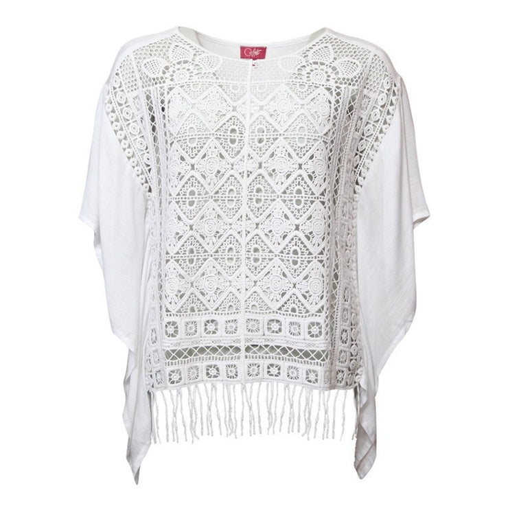White Kaftan Beach Top