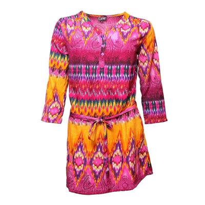 Indian Summer Belted Shift Dress