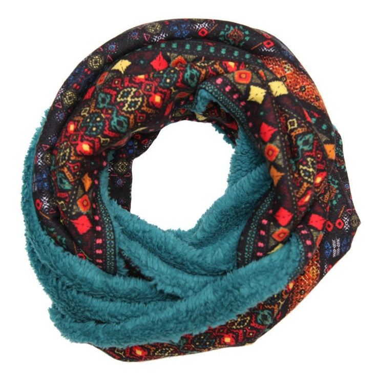 Faux Lamb Lined Circle Scarf