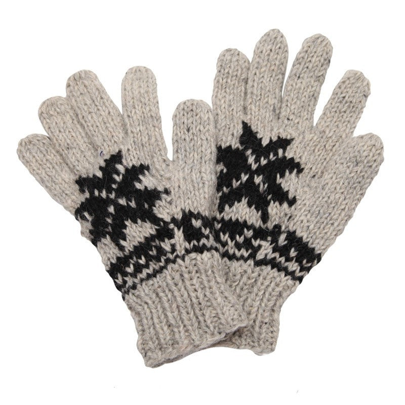 Grey Fairisle Woollen Gloves