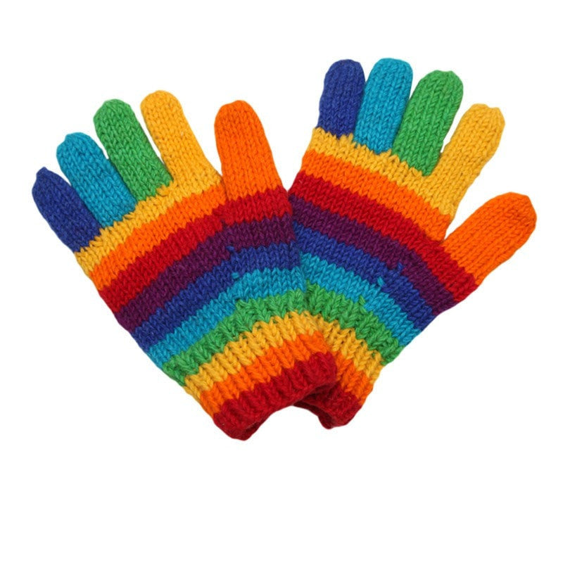 Woollen Rainbow Gloves The Hippy Clothing Co