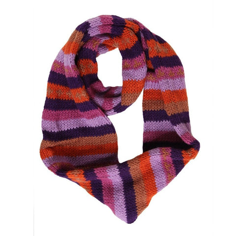 Men's Striped Infinity Scarf
