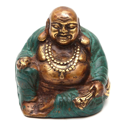 Bronze Effect Laughing Buddha