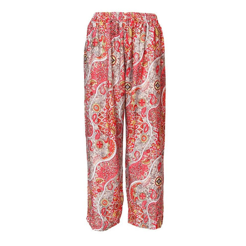 Paisley Print Straight Leg Trousers