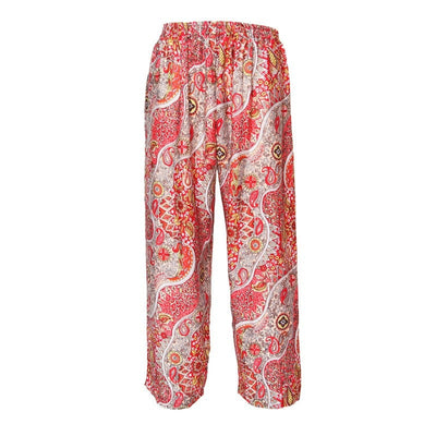 Men's Paisley Print Straight Trousers