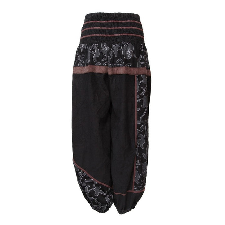 Black Cord Harem Pants
