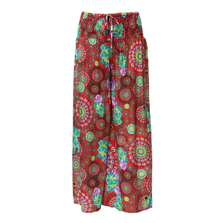Mixed Print Palazzo Trousers