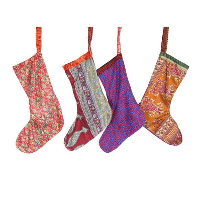 Recycled Sari Festive Stocking