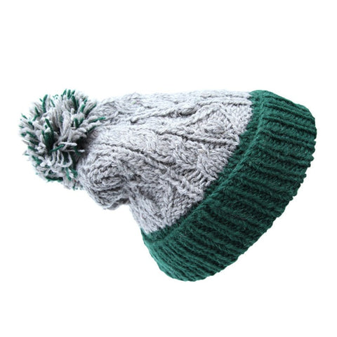 Men's Bobble Stitch Knit Beanies Hats