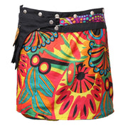Reversible Wrap Skirt With Hip Bag