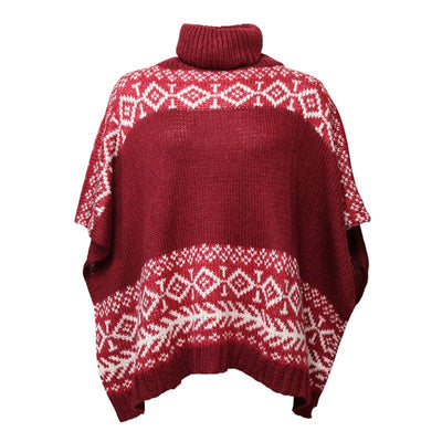 Soft Knit Turtleneck Poncho