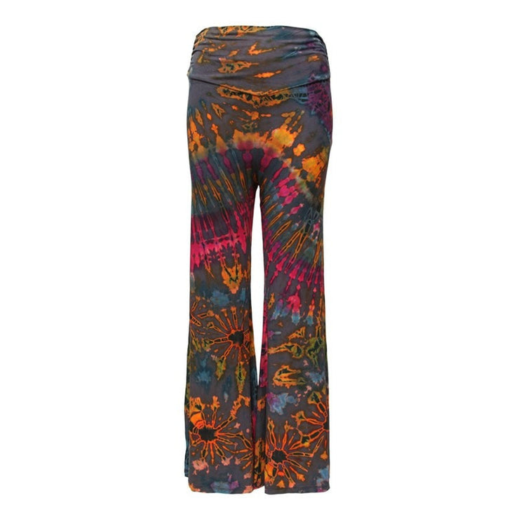 High Waisted Tie Dye Jersey Flares