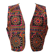 Embroidered Festival Open Waistcoat