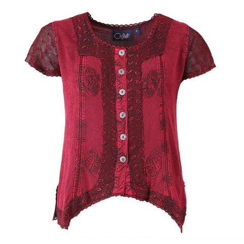 Gypsy Detail Button Up Top