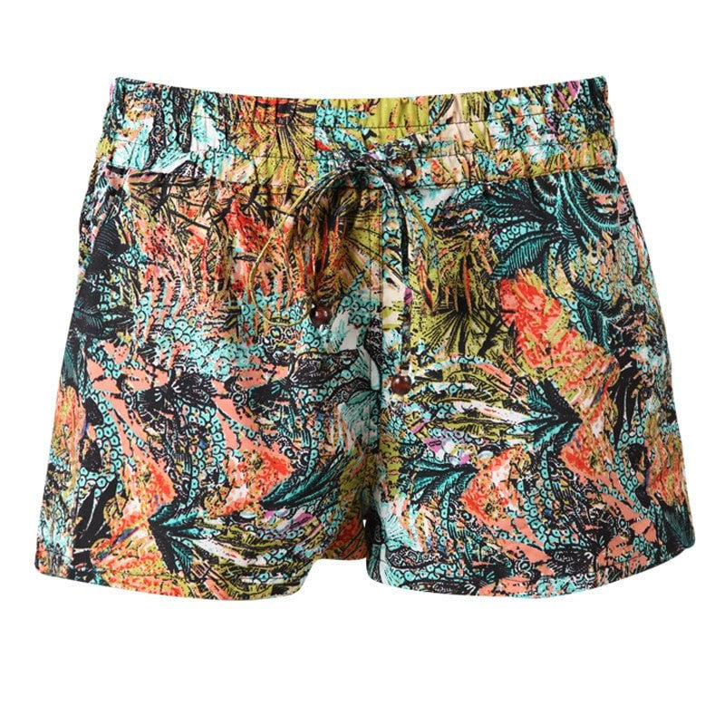 Jungle Leaf Print Shorts