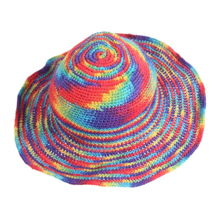Wire Rim Rainbow hat