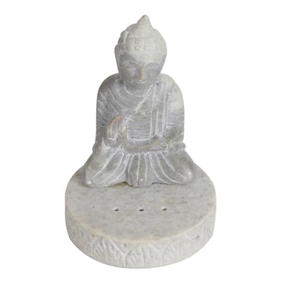 Hand Carved Soapstone Buddha Incense Burner